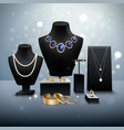 Realistic Jewelry Display vector image