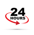 red 24 hours vector image
