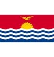 Flag of Kiribati in correct size and color vector image