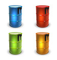 barrel set colot vector image