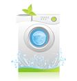 machine washing vector image vector image