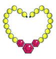 briliant pearl necklace icon cartoon style vector image