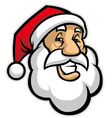 smilling santa head vector image