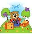 beaver traveler vector image