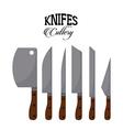 set knifes vector image