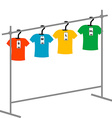 Coat hangers with tags vector image