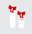 Cards with red ribbons vector image