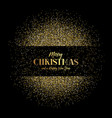 Christmas and new year background with gold vector image