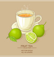 cup of bergamot tea vector image