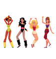 girls women in 80s style aerobics outfit sport vector image