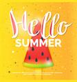 hello best summer vector image