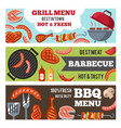 horizontal banners set with vector image