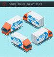 isometric delivery truck vector image