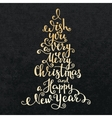 Merry Christmas Happy New Year lettering vector image