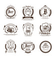 oktoberfest beer festival logos set holiday vector image