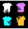Old shirt retro design collection vector image