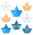 Origami boats vector image