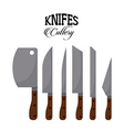 set knifes vector image