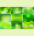 set of abstract colorful blurred vector image