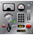 set of meters buttons and other machinery parts vector image