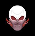 skeleton head paintball helmet skull protective vector image