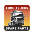 truck spare parts cargo freight logo template vector image