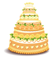 Big cake with sweet roses vector image vector image