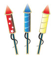 ready to launch firework rockets vector image