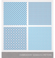 Embrodery pattern vector image vector image
