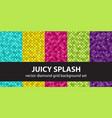 diamond pattern set juicy splash seamless vector image