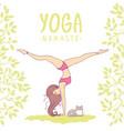 yoga girl color vector image