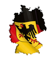 German Map Flag vector image