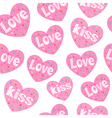 Love hearts seamless pattern vector image vector image
