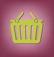 shopping cart icon vextor vector image