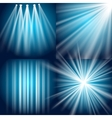 Light flash explosion and glow vector image
