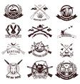 Set of hunting labels emblems and design elements vector image