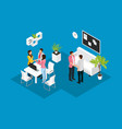 isometric business partnership concept vector image