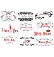 Love and Valentines day headlines vector image