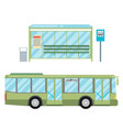 modern flat design public transport items bus vector image