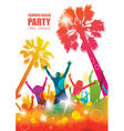 Party background with happy young people vector image