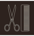 Scissors and Comb Symbols vector image