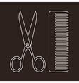 Scissors and Comb Symbols vector image