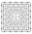 Set of decorative ethnic square frames and vector image