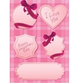 set of pink labels vector image