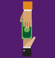 trading loaning money corruption in flat style vector image