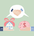 Trading real estate vector image