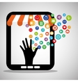 shopping online store virtual technology vector image