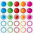Colorful price tags collection sale vector image vector image