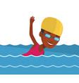 woman swimming vector image