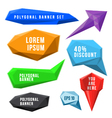 set of abstract polygonal labels and signs vector image